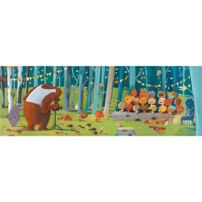 Djeco-07636 Puzzles Gallery - Forest Friends