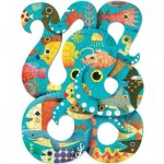 Puzzle  Djeco-07651 Puzz'Art - Octopus