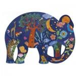 Puzzle  Djeco-07652 Puzz'Art - Elefant