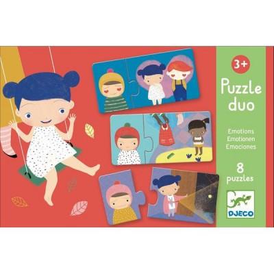 Djeco-08152 8 Puzzles - Duo