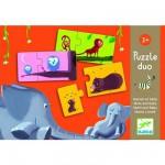 Djeco-08157 2 Puzzles - Mama und Baby