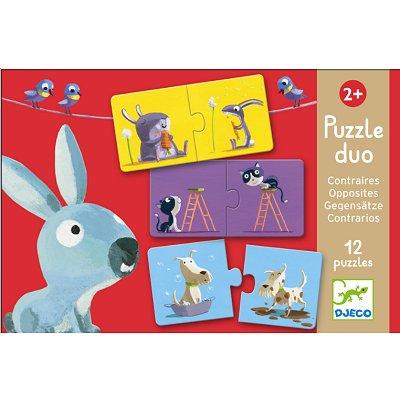 Djeco-08162 12 Puzzles - Duo der Gegensätze