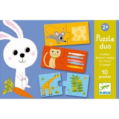 Djeco-08166 Duo Puzzle - Zu Tisch!
