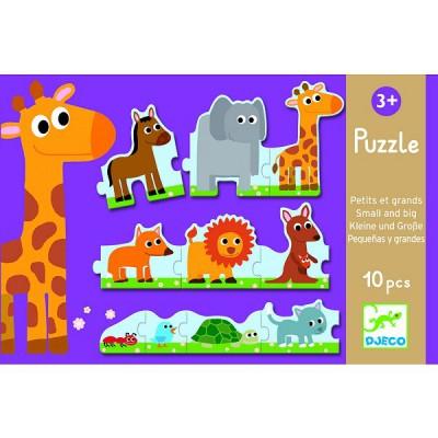 Puzzle  Djeco-08167 Klein und groß