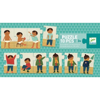 Puzzle  Djeco-08178 Ich kleide mich an