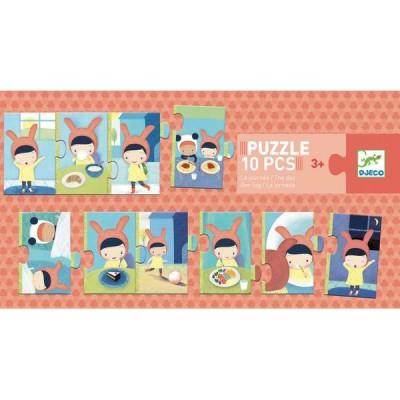Puzzle Djeco-08179 Der Tag