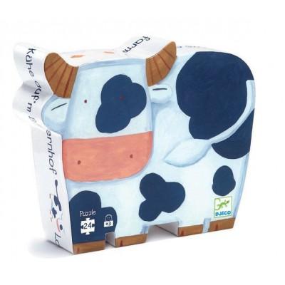 Puzzle  Djeco-DJ-07205 Silhouette Schachtel - Kühe und die Farm