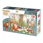 Puzzle  Deico-Games-76519 Waldtiere