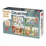 Deico-Games-76526 4 Puzzles - Tiere