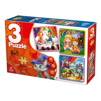 Deico-Games-76540 3 Puzzles - Fairy Tales