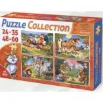 Deico-Games-76571 4 Puzzles - Tiere