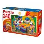 Puzzle  Deico-Games-76595 Schneewittchen und die 7 Zwerge