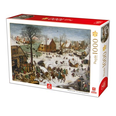 Puzzle  Deico-Games-76649 Brueghel the Elder - The numbering at Bethlehem