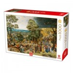 Puzzle  Deico-Games-76663 Breughel the Younger - Christ Carrying the Cross