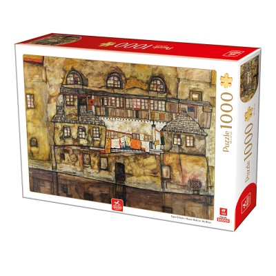 Puzzle Deico-Games-76748 Egon Schiele - House Wall on the River