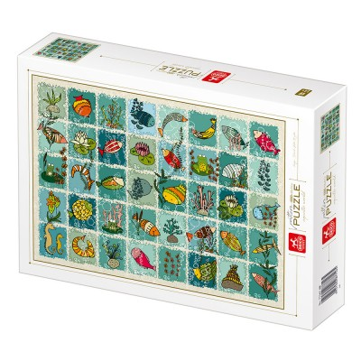 Puzzle  Deico-Games-77165 Pattern Aquatic Animals