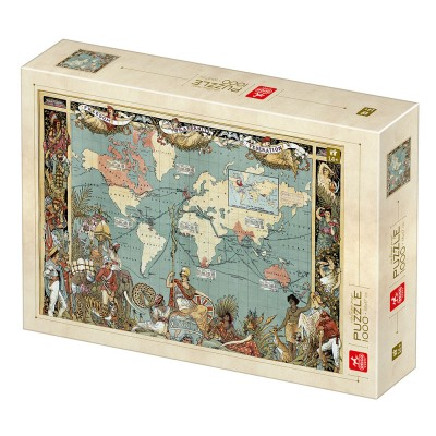 Puzzle Deico-Games-77561 Vintage Map