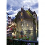 Puzzle  DToys-50328-AB33 Frankreich - Annecy