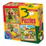 Puzzle  Dtoys-50922-BS-05 Märchen und Legenden: Hänsel und Gretel, Der gestiefelte Kater, Rotkäppchen