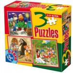 Puzzle  Dtoys-50922-BS-08 Märchen und Legenden: Pinocchio, Hänsel und Gretel, Schneewittchen und die 7 Zwerge