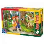Puzzle  Dtoys-60372-PV-01 XXL Teile - Hänsel und Gretel