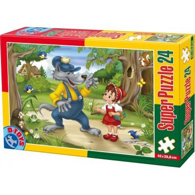 Puzzle  Dtoys-60372-PV-02 XXL Teile - Rotkäppchen