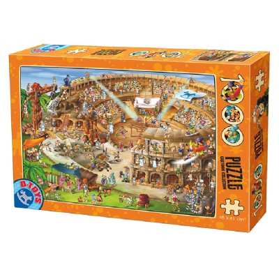 Puzzle  Dtoys-61218-CC10 Cartoon Collection - Kolliseum