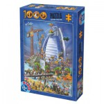 Puzzle  Dtoys-61218-CC12-(74690) Cartoon Collection - Burj Al Arab