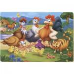 Puzzle  Dtoys-61430-AN-04 Hühner und Kücken auf dem Bauernhof