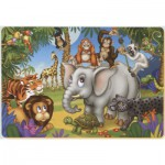 Puzzle  Dtoys-61454-AN-03 Das Fest der Tiere aus dem Dschungel