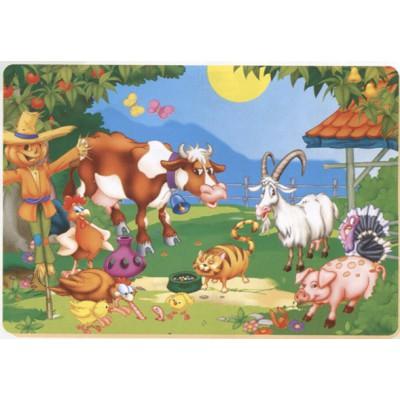 Puzzle Dtoys-61492-AN-04 Colore Me! Tiere auf dem Bauernhof