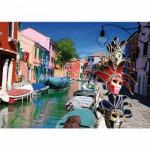 Puzzle  DToys-62154-EC10 Italien - Burano