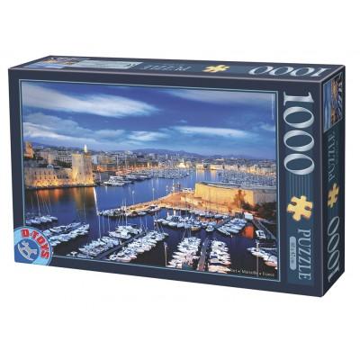 Puzzle Dtoys-62154-EC16-(74720) Hafen von Marseille