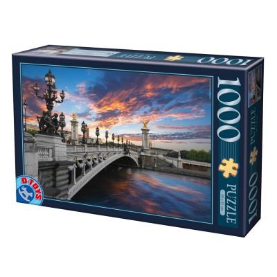 Puzzle Dtoys-62154-EC18-(74744) Pont Alexandre III, Paris, Frankreich
