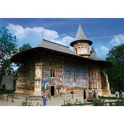 Puzzle  DToys-63038-MN02 Rumänien: Voronet Kloster