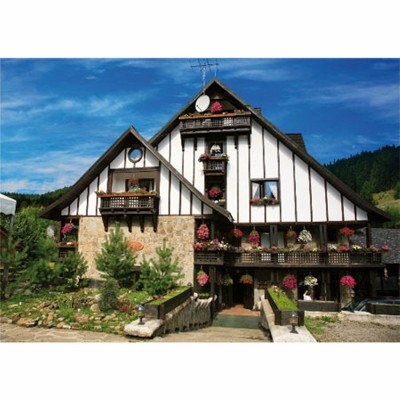 Puzzle  DToys-63038-MN05 Rumänien: Hotel Plai de Dor, Bukowina