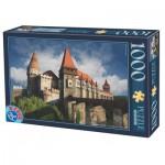 Puzzle  Dtoys-63038-MN12 Burg Hunedoara, Rumänien