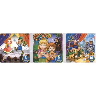 Puzzle Dtoys-63717-BA-02 Märchen und Legenden: Pinocchio, Hänsel und Gretel, Der gestiefelte Kater