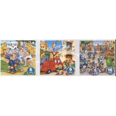 Puzzle  Dtoys-63724-ME-02 Feuerwehr, Polizei, Sanitäter