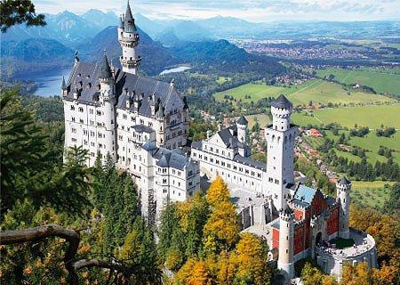Puzzle  DToys-64288-FP02-(70654) Deutschland: Schloss Neuschwanstein