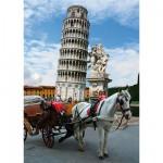 Puzzle  DToys-64288-FP03-(70647) Italien - Der schiefe Turm von Pisa