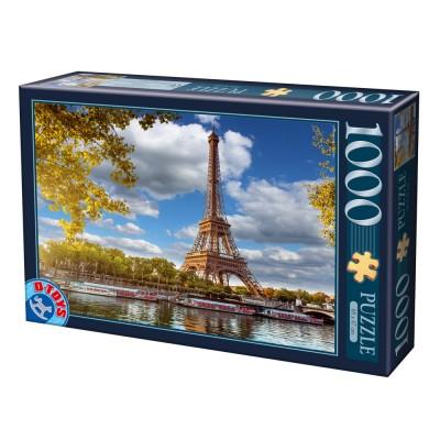 Puzzle  Dtoys-64288-FP12 Eiffelturm, Paris