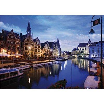 Puzzle  DToys-64301-NL03 Bei Nacht - Belgien: Gent
