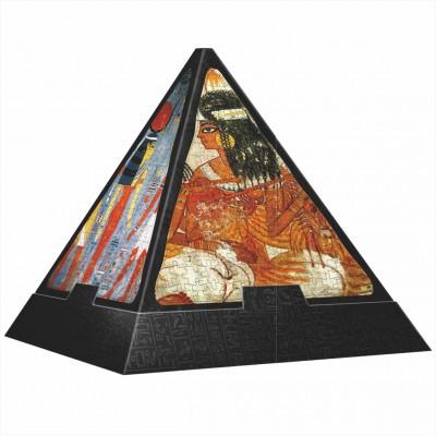 DToys-65957-PP03-(70425) 3D Pyramide - Ägypten: Malereien / schwieriges Puzzle