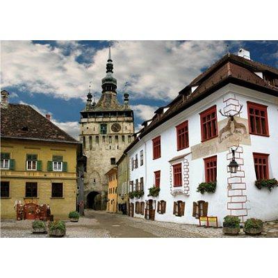 Puzzle  DToys-65995-DE02 Rumänien: Schäßburg, Sighisoara