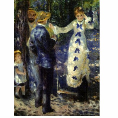 Puzzle  DToys-66909-RE03-(70333) Renoir: Die Schaukel