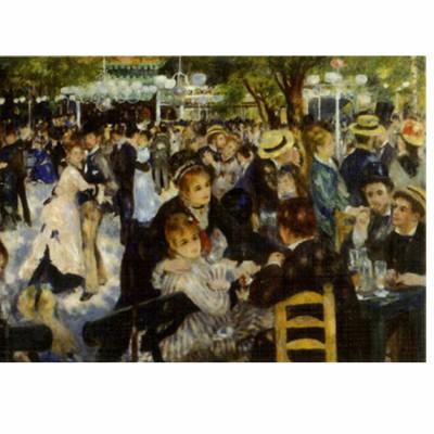 Puzzle  DToys-66909-RE06-(70302) Renoir: Le bal du Moulin de la Galette