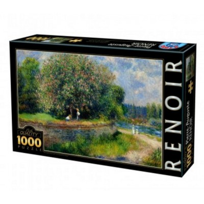 Puzzle DToys-66909-RE07-(74904) Auguste Renoir - Chestnut Tree in Bloom