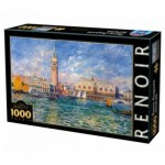 Puzzle  DToys-66909-RE08 Pierre-Auguste Renoir: The Doge's Palace, Venice