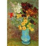 Puzzle  DToys-66916-VG02 Van Gogh: Blumen in blauer Vase